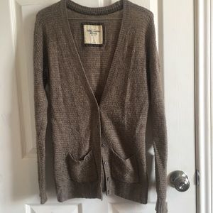 Abercrombie taupe knit cardigan